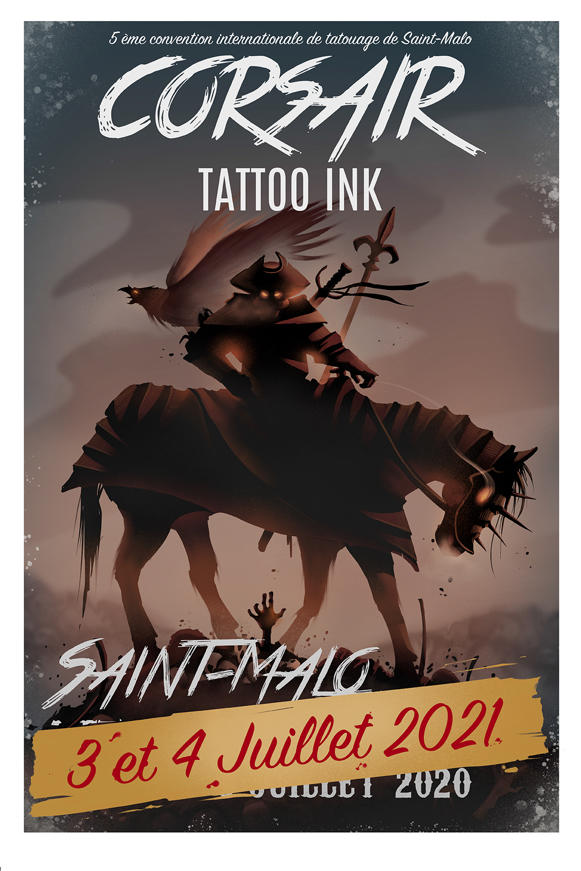 Corsair Tattoo Ink 2021 : découvrez l'affiche officielle !