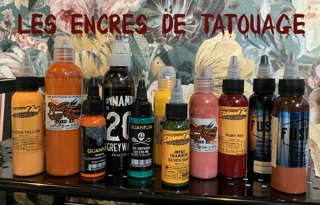 LES ENCRES DE TATOUAGE